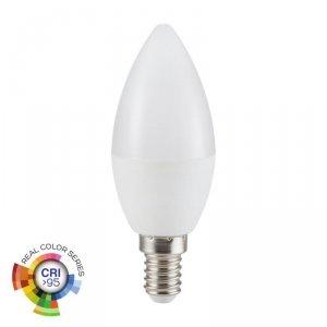 Żarówka LED V-TAC 5.5W E14 C37 Świeczka CRI95+ VT-2226 6400K 470lm