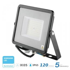 Projektor LED V-TAC 50W SAMSUNG CHIP SLIM Czarny 120lm/W VT-56 6400K 6000lm 5 Lat Gwarancji