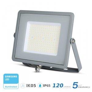Projektor LED V-TAC 100W SAMSUNG CHIP SLIM Szary 120lm/W VT-106 4000K 12000lm 5 Lat Gwarancji