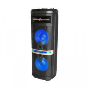 Głośnik Przenośny V-TAC 120W Mikrofon Bezprzewodowy i Przewodowy 2 Głośniki, RGB, PILOT, na kółkach VT-6210-2