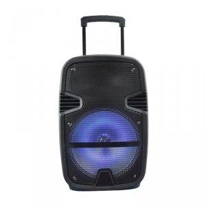 Głośnik Przenośny V-TAC 35W Mikrofon, RGB, PILOT, USB, Micro SD & FM Radio, na kółkach 510x320x270 VT-6212