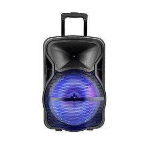 Głośnik Przenośny V-TAC 35W Mikrofon, RGB, PILOT, USB, Micro SD & FM Radio, na kółkach 510x320x295 VT-6312