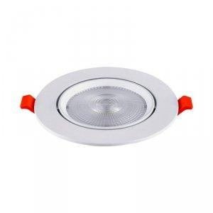 Oprawa V-TAC LED Downlight SAMSUNG CHIP 10W Ruchoma VT-2-10 3000K 900lm 5 Lat Gwarancji