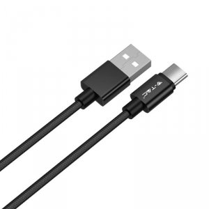 Przewód Micro USB V-TAC Typ C 1M Czarny Seria Platinum VT-5334