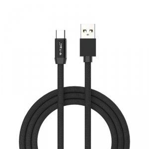Przewód Micro USB V-TAC Typ C 1M Czarny Seria Ruby VT-5342