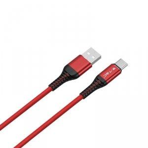 Przewód Micro USB V-TAC Typ C 1M Czerwony Seria Złota VT-5352