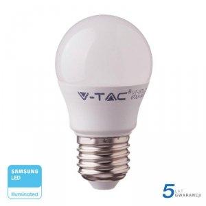 Żarówka LED V-TAC SAMSUNG CHIP 7W E27 Kulka G45 VT-290 3000K 600lm 5 Lat Gwarancji