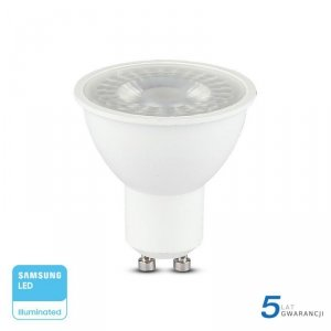 Żarówka LED V-TAC SAMSUNG CHIP GU10 8W 110st VT-292 6400K 720lm 5 Lat Gwarancji