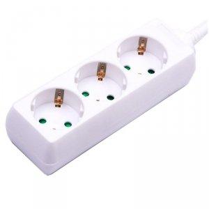 Przedłużacz 3 gniazda V-TAC (3G 1.5MM2 X 1.5M) Biały VT-1103
