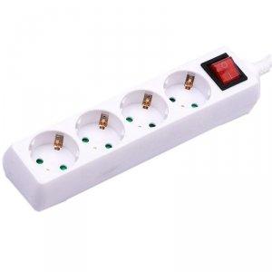 Przedłużacz 4 gniazda z włącznikiem V-TAC (3G 1.5MM2 X 1.5M) Biały VT-1114