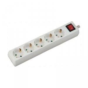 Przedłużacz 5 gniazd z włącznikiem V-TAC (3G 1.5MM2 X 5M) Biały VT-1115