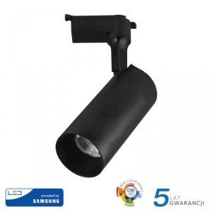 Oprawa 18W LED V-TAC Track Light SAMSUNG CHIP CRI90+ Czarna 24st VT-418 3000K 1260lm 5 Lat Gwarancji