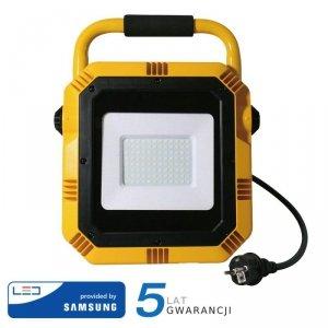 Projektor Przenośny LED V-TAC 50W SAMSUNG CHIP IP65 3mb VT-51 4000K 4000lm 5 Lat Gwarancji