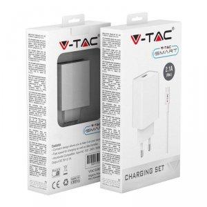 Ładowarka V-TAC USB Type C z Przewodem Biała VT-5372