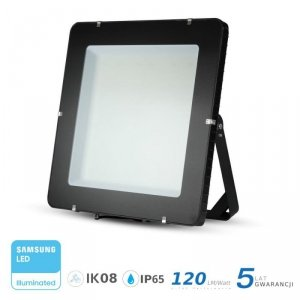 Projektor LED V-TAC 1000W LED SAMSUNG CHIP Czarny 120lm/W 100st VT-1055 6400K 120000lm 5 Lat Gwarancji