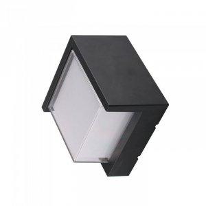 Oprawa Ścienna V-TAC 7W LED Czarna Kwadrat IP65 VT-831 3000K 400lm