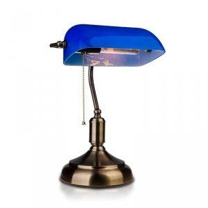 Lampa Bankierska V-TAC E27 Stare Zloto Niebieski Klosz VT-7151