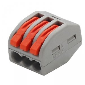 Złączka Instalacyjna 3x4mm 0.08-2.5(4.0)mm NYLON 32A V-TAC