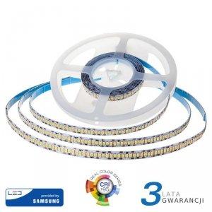 Taśma LED V-TAC SAMSUNG CHIP 2835 1200LED 24V IP20 CRI95+ 10mb 18W/m VT-10 3000K 1500lm 3 Lata Gwarancji