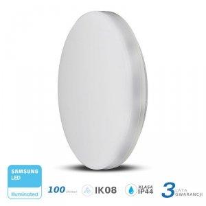 Plafon Natynkowy Okrągły V-TAC 25W LED SAMSUNG CHIP IP44 100lm/W VT-8066 3000K 2500lm 3 Lata Gwarancji