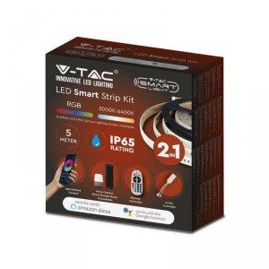 Taśma LED V-TAC Zestaw RGBW CCT SMD5050/54 28W IP65 Alexa Smart VT-5050 RGB+2700K-6400K 280lm 3 Lata Gwarancji