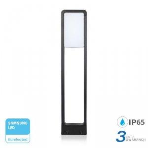 Słupek Ogrodowy 10W LED SAMSUNG CHIP Czarny IP65 VT-33 4000K 900lm 3 Lata Gwarancji