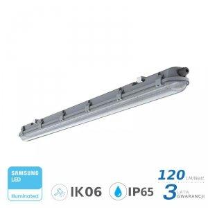 Oprawa Hermetyczna LED V-TAC SAMSUNG CHIP M-SERIES 36W 120cm 120LM/W CL VT-120036 4000K 4320lm 3 Lata Gwarancji