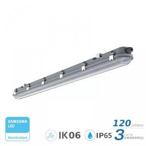 Oprawa Hermetyczna LED V-TAC SAMSUNG CHIP M-SERIES 36W 120cm 120LM/W CL SS Clip VT-120136 4000K 4320lm 3 Lata Gwarancji