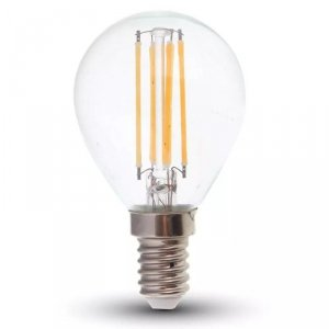 Żarówka LED V-TAC 6W Filament E14 Kulka P45 Przeźroczysta VT-2466 4000K 600lm