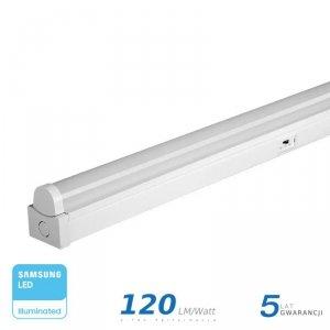 Belka Linia Świetlna V-TAC 40W LED SAMSUNG CHIP 120cm 3w1 120LM/W VT-8-45 3W1 4800lm 5 Lat Gwarancji