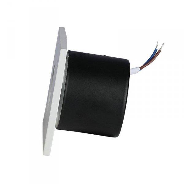Oprawa Schodowa 3W LED V-TAC Kwadrat Biały 230V VT-1109 4000K 120lm