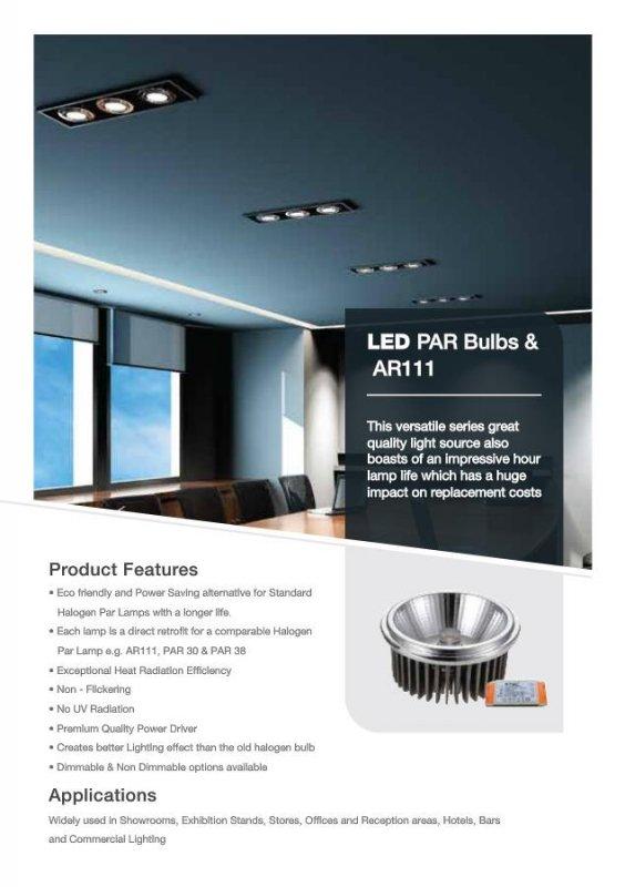 Żarówka LED V-TAC AR111 20W 230V 40st COB z zasilaczem 1800lm VT-1120 3000K 1500lm