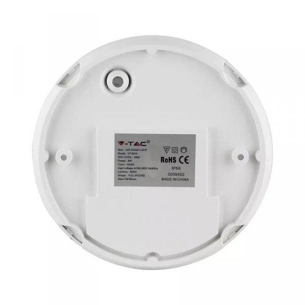 Plafon V-TAC 8W Okrągły Biały IP66 VT-8014 4000K 560lm