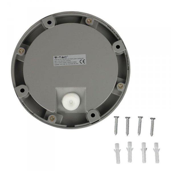 Oprawa Schodowa 2W LED V-TAC Szara Okrągła 230V IP65 VT-1142 4000K 60lm