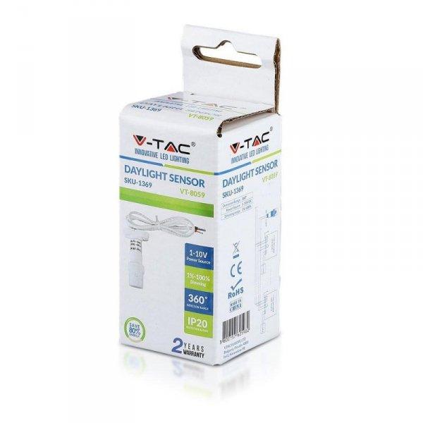 Czujnik Światła 1-10V Biały V-TAC