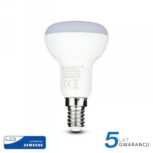 Żarówka LED V-TAC SAMSUNG CHIP 6W E14 R50 VT-250 3000K 470lm 5 Lat Gwarancji