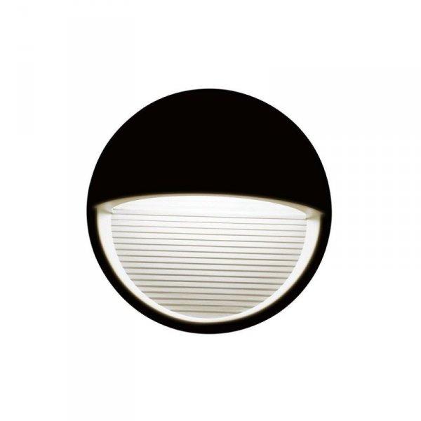 Oprawa Ścienna Elewacyjna 3W LED V-TAC Czarna Okrągła 230V IP65 VT-1182 3000K 210lm