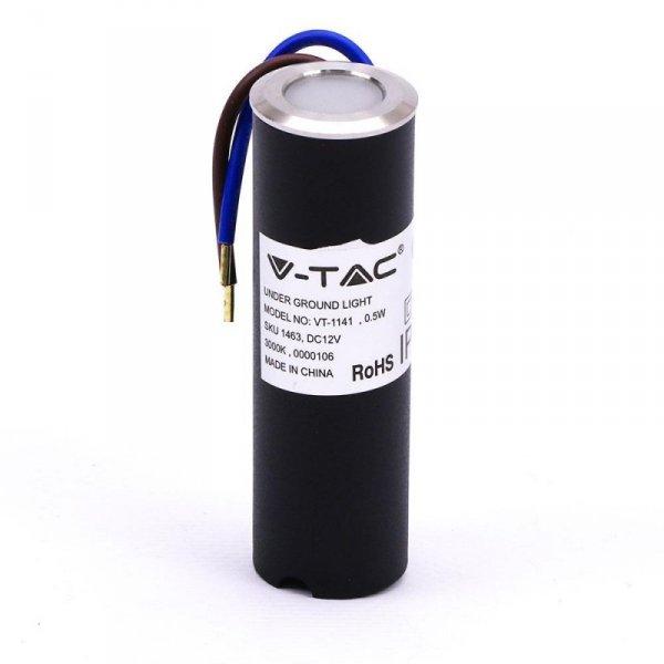 Oprawa Gruntowa Podłogowa V-TAC 0.5W LED Srebrna IP67 VT-1141 3000K 5lm