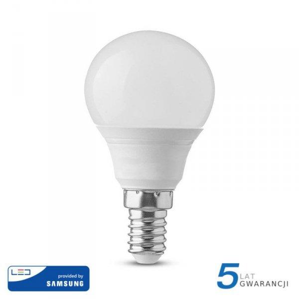Żarówka LED V-TAC SAMSUNG CHIP 5.5W E14 P45 Kulka VT-236 3000K 470lm 5 Lat Gwarancji