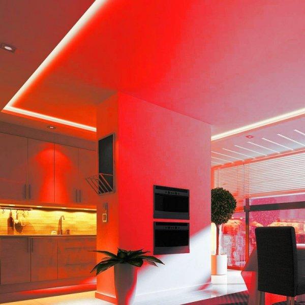 Taśma LED V-TAC SMD5050 300LED IP20 9W/m VT-5050 Czerwony 1000lm