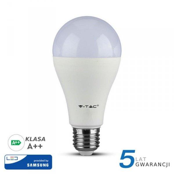 Żarówka LED V-TAC SAMSUNG CHIP 12W E27 A65 A++ VT-295 3000K 1521lm 5 Lat Gwarancji