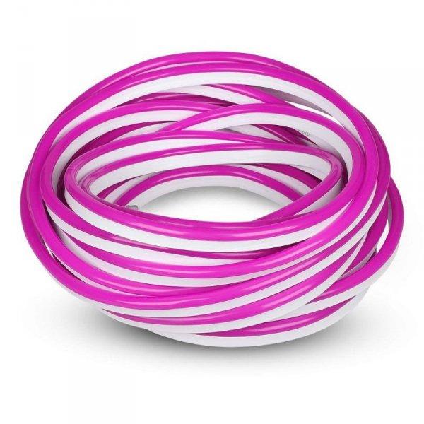 Neon Flex 24V 10mb 8W/m 10mb V-TAC VT-555 Różowy 320lm