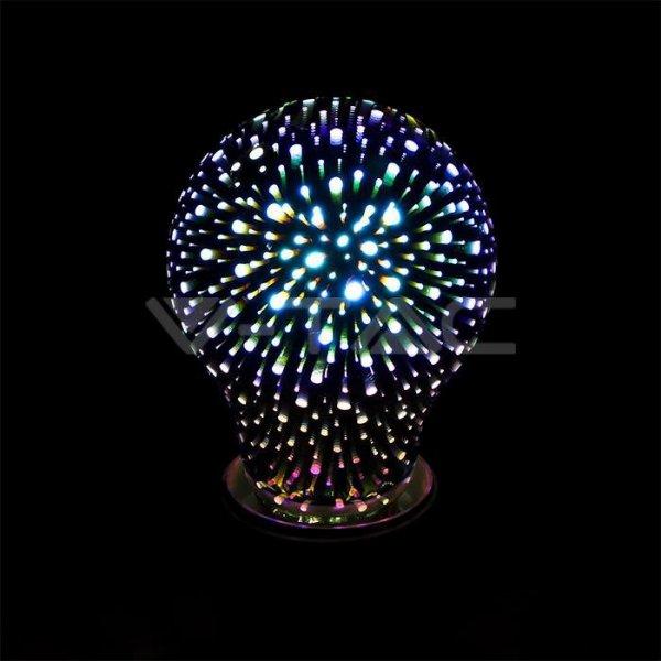 Żarówka LED V-TAC 3W E27 Filament 3D A60 VT-2203 3000K 20lm