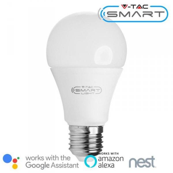 Żarówka LED V-TAC 11W E27 A60 SMART WiFi RGB+WW+CW VT-5113 RGB+2700K-6400K 1055lm
