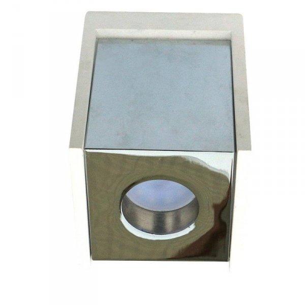 Oprawa V-TAC GIPS BETON GU10 Natynkowa Kwadrat Biały/Chrom VT-860 5 Lat Gwarancji