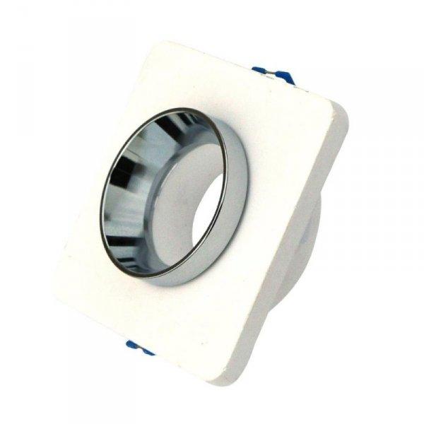 Oprawa Oczko V-TAC GIPS BETON GU10 Kwadrat Wpuszczany Biały/Chrom VT-862 5 Lat Gwarancji