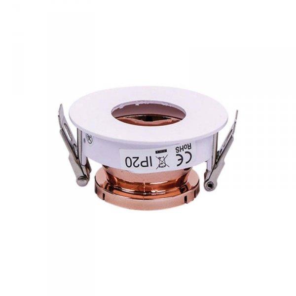 Oprawa Oczko V-TAC GU10 Asymetryczna Wpuszczana Biały/Różowy Złoty Okrągła VT-874 3 Lata Gwarancji
