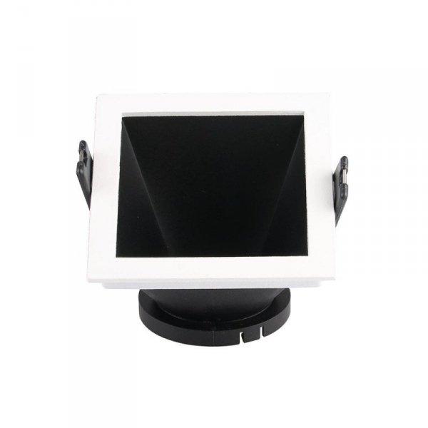 Oprawa Oczko V-TAC GU10 Wpuszczana Biały/Czarny Kwadrat VT-875 3 Lata Gwarancji