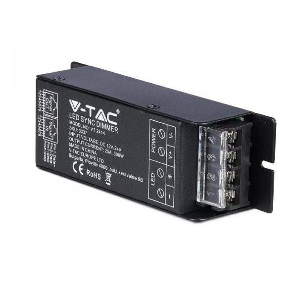 Sterownik Taśm LED Jednokolorowy Radiowy 12V/24V 300W/600W 25A RJ45 V-TAC VT-2414