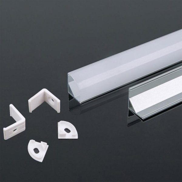 Profil Aluminiowy V-TAC 2mb Biały, Klosz Mleczny, Kątowy VT-8123 5 Lat Gwarancji